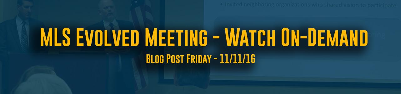 MLS Evolved Meeting - Watch Online