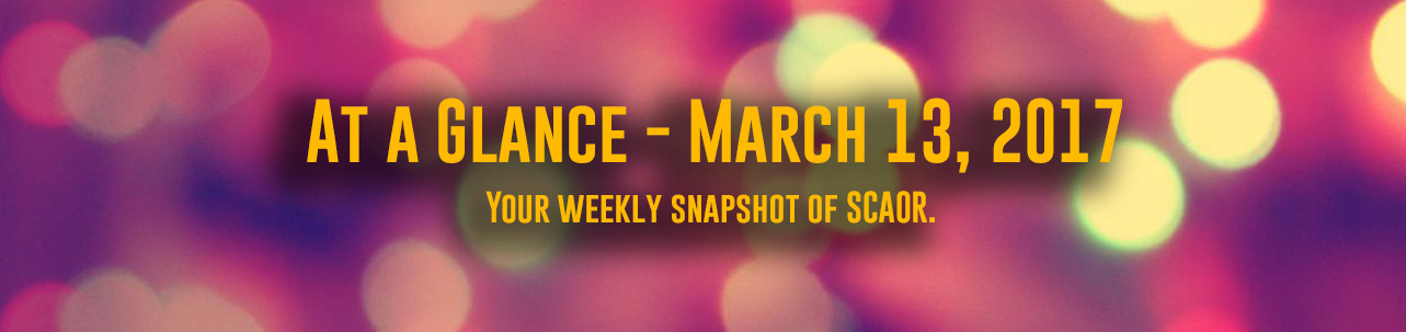 At a Glance for March 13, 2017