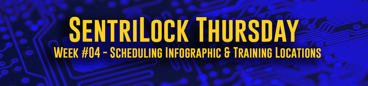 Sentrilock Thursday - Week #04 - Scheduling Infographic
